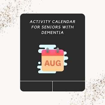 activity calendar for seniors in august