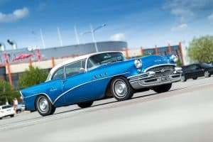old model blue buick