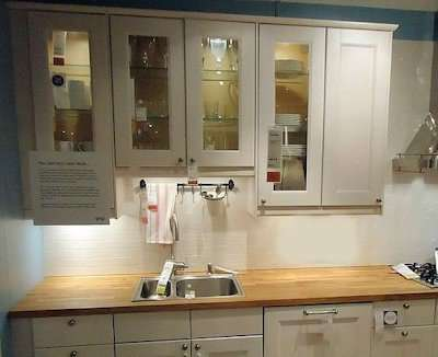 illuminate the counter tops with under cabinet lights