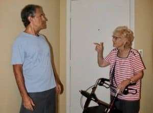 caregiver being abused by elderly parent