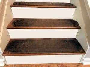 carpeted stair treads