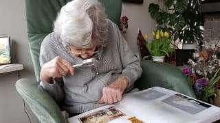 blind elderly lady
