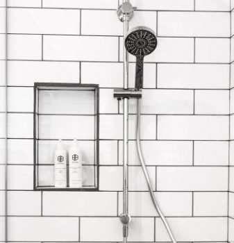 elderly and showering