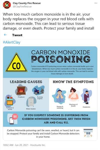 a carbon monoxide detector can save your life