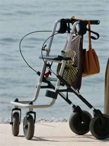 rollator mobility aid for seniors