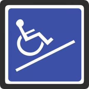 sign for wheelchair ramp